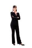 Glimlachende vrouwelijke stafmedewerker Royalty-vrije Stock Afbeelding