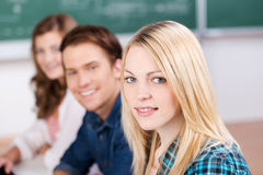 Glimlachende Vrouwelijke Student stock foto