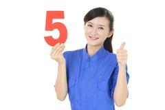 Glimlachende vrouwelijke werknemer Stock Afbeeldingen