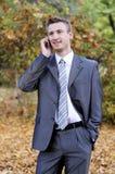 Glimlachende zakenman Stock Fotografie