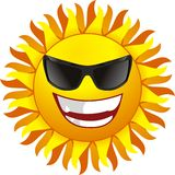 Glimlachende zon Stock Fotografie
