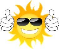 Glimlachende zon Stock Afbeelding