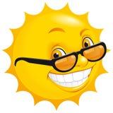 Glimlachende zon Stock Foto