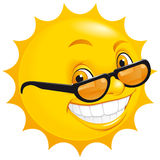 Glimlachende zon royalty-vrije illustratie