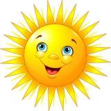 Glimlachende zon Royalty-vrije Stock Fotografie