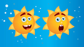 Glimlachende zonknoop Stock Foto