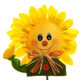Glimlachende zonnebloem Royalty-vrije Stock Foto's
