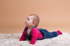 Glimlachende zuigelingsbaby Royalty-vrije Stock Foto