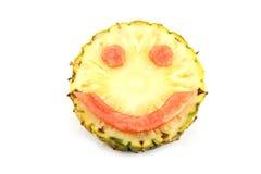 Glimlachgezicht van Emotiebeeld van mengelingsvruchten die wordt gemaakt. Royalty-vrije Stock Fotografie