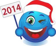 Glimlachnieuwjaar, Kerstmis. Glimlach. Stock Afbeeldingen