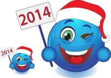 Glimlachnieuwjaar, Kerstmis. Glimlach. Stock Fotografie