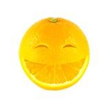 Glimlachsinaasappel stock fotografie