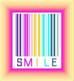 Glimlachstreepjescode Royalty-vrije Stock Foto