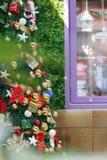 Glimma julgranbakgrund royaltyfri bild