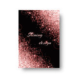 Glimmer background with flare light Royalty Free Stock Photos