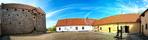 Glimmingehus castle panorama 01 Royalty Free Stock Photography