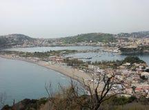 Glimp van de stranden van Miseno royalty-vrije stock foto's