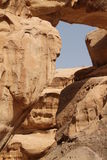 Glimp van de woestijn Wadi Rum Royalty-vrije Stock Fotografie