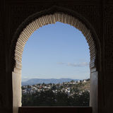 Glimps on Albaicin, the oldest neighborhood of Granada, Spain Stock Photography