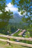 Glimps des Alpes Photographie stock