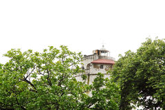 Glimpse of Aguada Fort lighthouse Royalty Free Stock Images