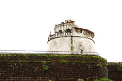 A Glimpse of Aguada fort lighthouse Royalty Free Stock Photo