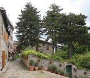 Glimpse of the beautiful country of Montemonaco, Ascoli Piceno Stock Image