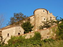 Glimpse of the Castle of Gesualdo Royalty Free Stock Photos