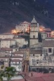 Glimpse of the city of Campagna in the province of Salerno. To understand a concept of tourism famous for the event & x22;a chiena& x22; on the occasion of the Royalty Free Stock Photography