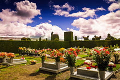 A glimpse into a columbian cemetery, south america Royalty Free Stock Photos