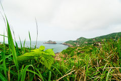 Glimpse of the deserted village in gouqi island Royalty Free Stock Photo