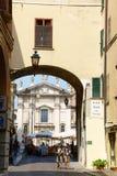 Glimpse of downtown Mantua, Italy Royalty Free Stock Photos