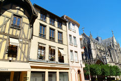 Glimpse of downtown Troyes, France Stock Photo