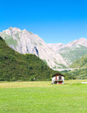 Glimpse of formazza valley. View of formazza valley,piedmont Royalty Free Stock Images
