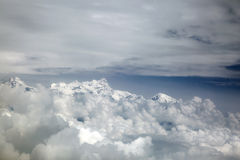 A glimpse of the Himalayan range through the clouds Royalty Free Stock Images
