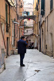 Glimpse of the historical center of Sanremo Royalty Free Stock Image