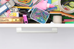 Glimpse inside the Stationery Drawer Stock Photography