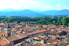 Glimpse in Lucca Stock Image