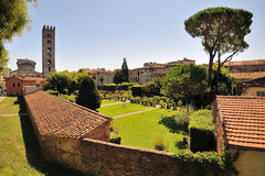 Glimpse in Lucca Royalty Free Stock Photos