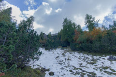 Glimpse of the mountain Stock Image