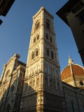 Glimpse Of Cathedral, Bell Tower And Couple Royalty Free Stock Images
