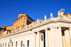 Glimpse of Piazza San Pietro Stock Image