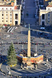 Glimpse of Piazza San Pietro Royalty Free Stock Photography