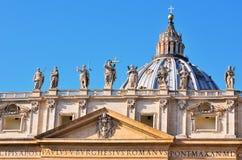 Glimpse of Piazza San Pietro Stock Photos