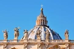 Glimpse of Piazza San Pietro Royalty Free Stock Image