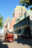 Glimpse of Quebec City in Canada Royalty Free Stock Image