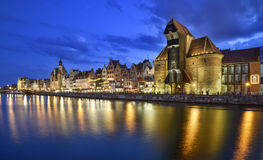Glimpse of the river motlawa gdansk poland europe Royalty Free Stock Images