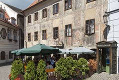 A glimpse of the small town of cesky krumlov czech republic europe Stock Images