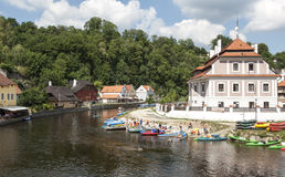 A glimpse of the small town of cesky krumlov czech republic europe Stock Photos