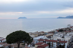 Glimpse of Sperlonga city in Italy Royalty Free Stock Images